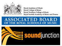 ABRSM and Soundjunction logos
